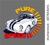 pure speed vector t shirt... | Shutterstock .eps vector #687833641