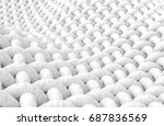 close up look at interlaced... | Shutterstock . vector #687836569