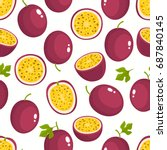 vector seamless pattern with... | Shutterstock .eps vector #687840145