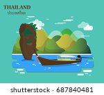 tourist attractions and...   Shutterstock .eps vector #687840481