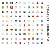 office icons   Shutterstock .eps vector #687844879