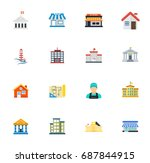 building icons | Shutterstock .eps vector #687844915