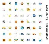 travel icons   Shutterstock .eps vector #687845095