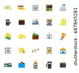 money icons | Shutterstock .eps vector #687845281