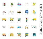 transport icons | Shutterstock .eps vector #687845371