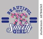Sweety Girl Vector T Shirt...