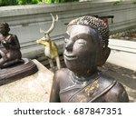 stone statues on wat arun ... | Shutterstock . vector #687847351