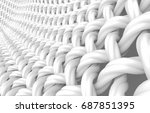 close up look at interlaced... | Shutterstock . vector #687851395