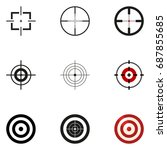 vector set of aiming icons.... | Shutterstock .eps vector #687855685