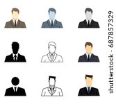 vector set of businessman icons.... | Shutterstock .eps vector #687857329