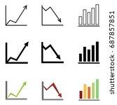 vector set of variation... | Shutterstock .eps vector #687857851