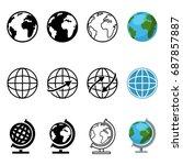 vector set of different graphic ... | Shutterstock .eps vector #687857887
