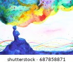 power of thinking  abstract... | Shutterstock . vector #687858871