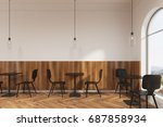 modern black chairs are... | Shutterstock . vector #687858934