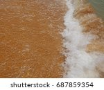 sea surf close up  copy space   Shutterstock . vector #687859354