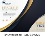 brochure flyer design template... | Shutterstock .eps vector #687869227