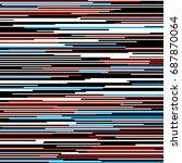 horizontal straight  lines... | Shutterstock .eps vector #687870064