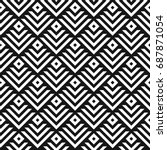 seamless abstract geometric... | Shutterstock .eps vector #687871054