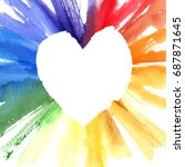 Watercolor Color Wheel Heart...