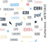 letters pattern vector. | Shutterstock .eps vector #687872815