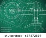 mechanical engineering drawings.... | Shutterstock .eps vector #687872899