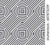 vector seamless pattern. modern ... | Shutterstock .eps vector #687873259