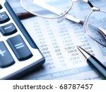 close up view of calculator ... | Shutterstock . vector #68787457