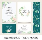 wedding invitation card... | Shutterstock .eps vector #687875485