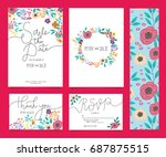wedding invitation card... | Shutterstock .eps vector #687875515