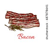 bacon meat icon for butchery... | Shutterstock .eps vector #687878641