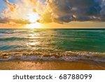 Sunrise  Atlantic Ocean  Fl  Usa