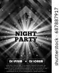 black and white party club... | Shutterstock .eps vector #687887917