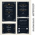 wedding invitation   save the... | Shutterstock .eps vector #687893329