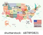 map of the united states of... | Shutterstock .eps vector #687893821