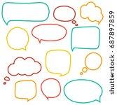 speech bubbles | Shutterstock .eps vector #687897859
