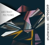 abstract vector polygons... | Shutterstock .eps vector #687904549