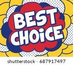 best choice background in pop... | Shutterstock .eps vector #687917497