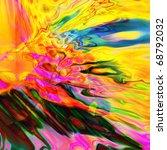 Art Abstract Rainbow Pattern...