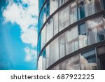 detailed view of glass windows... | Shutterstock . vector #687922225