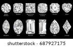 twelve the most popular... | Shutterstock . vector #687927175