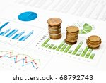 graphs and charts with stacks...   Shutterstock . vector #68792743