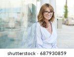 close up portrait of a... | Shutterstock . vector #687930859