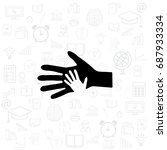 helping hand icon. vector... | Shutterstock .eps vector #687933334