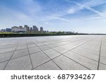 panoramic skyline and buildings ... | Shutterstock . vector #687934267