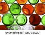 Bottoms Of Empty Glass Bottles...