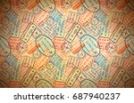 a lot of colorful international ... | Shutterstock . vector #687940237