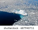 floating ice and iceberg in... | Shutterstock . vector #687940711