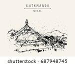 boudhnath  boudha. tibetan... | Shutterstock . vector #687948745