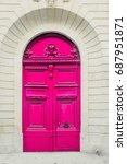 a vivid pink ornately decorated ... | Shutterstock . vector #687951871