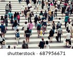 many people | Shutterstock . vector #687956671